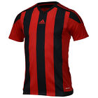 Adidas Men's Striped 15 Jersey Training Top T-Shirts Black Red AA3726