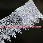 FP54F 1 Yards Lace Trim Ribbon For Dress Skirt Veil Embroidered DIY Sewing Craft