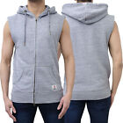 Mens Franklin & Marshall Sleeveless Hooded Sweatshirt Jumper Sweater Zipper Hood