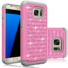Hybrid Rubber Bling Crystal Case Cover for Samsung Galaxy S7/S7 edge / S7 Active <br/> US Seller/Stock◆Fast Free Shipping◆BUY 2 EXTRA 5% OFF◆