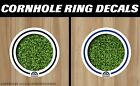 Colorado Rockies White Cornhole Ring Bag Toss Cast Vinyl HD Hole Decals