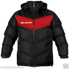 Givova Podio Winter Warm Jacket Football Men S M  Removable Hood Black/ Red