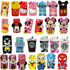 3D Cartoon Soft Silicone Phone Back Case Cover Skin Shell For iPhone