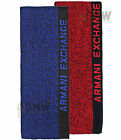 ARMANI EXCHANGE KNITTED SCARF 'SIREN' BLUE/ RED ONE SIZE Was £55.00