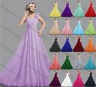 Long Chiffon Wedding Formal Party Ball Gown Prom Evening Bridesmaid Dress 6-22
