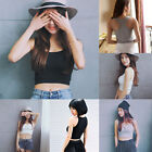 Women Casual Vest Fitness Sports Yoga Bralette Crop Top Vest Cami T-Shirt Tank