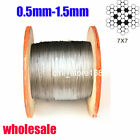 304 spring wire Stainless Steel Cable Wire rope-500feet  0.5mm-1.5mm