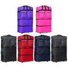 "40"" XXL Jumbo Rolling Wheeled Duffel Bag Expandable Spinner Suitcase Luggage New"