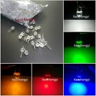 2pin 8mm 0.5W Wide Angle Bright High Power LED  (Red  Green Blue Yellow White )