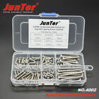 120pcs DIN7981 A2 SS Pan Head Self Tapping Screws Assortment Kit+ Free shipping