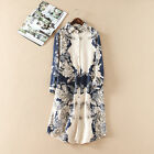 BLOGGER FAV VTG BOHO CHIC FLORAL PRINT FESTIVAL TOP TUNIC WEDDING SHIRT DRESS