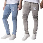 Mens Loyalty & Faith Jeans Designer Branded Skinny Stretch Denim Trousers Pants