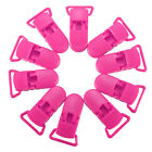 14 Colors Plastic Pacifier Clips Soother Dummy Bib Suspender Paci Toy Holder