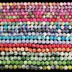 multi color jade spacer beads DIY 4mm 6mm 8mm 10mm round stone 16""