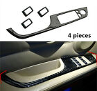 Carbon Fiber Interior Window Lifter Switch Buttons Decal Cover Trim For BMW E90