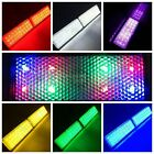 2X Rectangle Reflector LED Tail Rear Brake Stop Light Motorcycle Truck 7 Colours