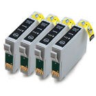 4 Black Compatible (non-Epson) Printer Ink Cartridges to replace T0711