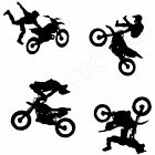 4x MOTOCROSS MOTORBIKE Stickers KIDS BOYS ROOM Wall Art Stickers (C1)