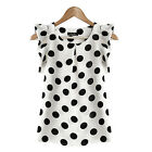 Women's Casual Chiffon Blouse Short Sleeve Shirt T-shirt Summer Tops Fashion New