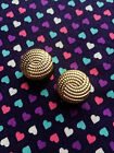 Gold Swirl Plugs / Gauges- 10mm-20mm (Sold as Pair)...Elegant / Formal
