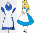 free shipping NEW Alice In Wonderland Alice Cosplay Blue Dress Costume