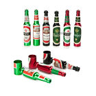 NEW Aluminum Pipes Beer Bottle Design Metal Small Pocket Size Smoking Pipe Gift