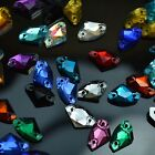 Mixed Colors 7*12mm Axe Rhinestones Sew On Flatback Crystal Glass 2 Holes