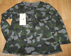 Stella McCartney girl top t-shirt 3-4 y BN New designer camo cotton