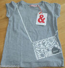 Imps & Elfs girl top t-shirt 128 cm 7-8 y BNWT designer grey