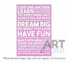 Inspirational Motivational Framed Canvas Wall Art Print Framed Picture