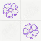 12x HIBISCUS TILE DECALS / Tile Transfers / Stickers - 2 Sizes avail. (T14)