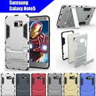 TPU Case Cover Samsung Galaxy Note5 Iron Man Armor Shockproof Heavy Duty Stand