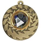 50mm Heavyweight Badminton Medals With FREE Ribbon & Engraving up to 30 Letters