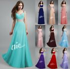 STOCK Women Long Evening Ball Prom Gown Formal Bridesmaid Cocktail Party Dress