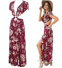 Sexy Women Ladies Summer Boho Floral Long Maxi Evening Party Beach Dress New A45