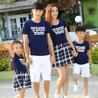 Summer Plaid Family mother daughter Dresses father son t shirts Tees Shorts Sets
