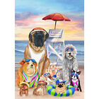 Lifeguard Dogs Decorative Flag
