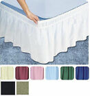 "Ruffle Wrap Around Skirt Bed 14"" Drop Stretch Easy Fit ALL SIZE FREE SHIPPING! image"
