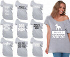 60 DESIGNS Mother's Day Off Shoulder Top T-shirt Mom's Gift GRAY-1