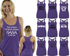 60 DESIGNS Mother's Day Racer-back Tank Top T-shirt Mom's Gift PURPLE - 4