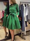 Long Sleeve Casual Lady Vintage Style Party Prom Cocktail Shirt Dress Pocket P80