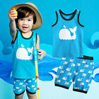 "Vaenait Baby Kids Boy Clothes Sleeveless Pajama Outfit Set ""Dolphin blue"" 12M-7T"