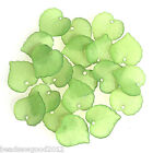 50 FROSTED LUCITE ACRYLIC LEAF BEAD CHARMS 16mm Jewellery Making Crafts