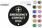 In Case Of Car Accident Emergency Contact Detail Magnetic Disc Holders 12 Colour