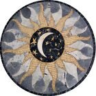 Marble Moon Mosaic Stone Art Tile Medallion - Celia Gray