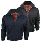 MENS HARRINGTON JACKET CLASSIC MAN RETRO SCOOTER BOMBER MOD COAT TOP SIZE M-XXL