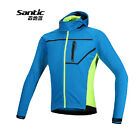 Santic Men's Cycling Windproof Fleece Thermal Long Sleeve Long Jersey Blue New