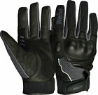 Weise Airflow Plus Black Gun Leather Mesh Sport Motorcycle Gloves RRP £34.99!