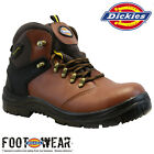 MENS DICKIES LEATHER SAFETY BOOTS STEEL TOE CAP ANKLE HIKER WORK SHOES SIZE NEW