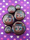 Pair of Cheshire Cat Ear Plugs Tunnels Gauges- 6mm - 25mm